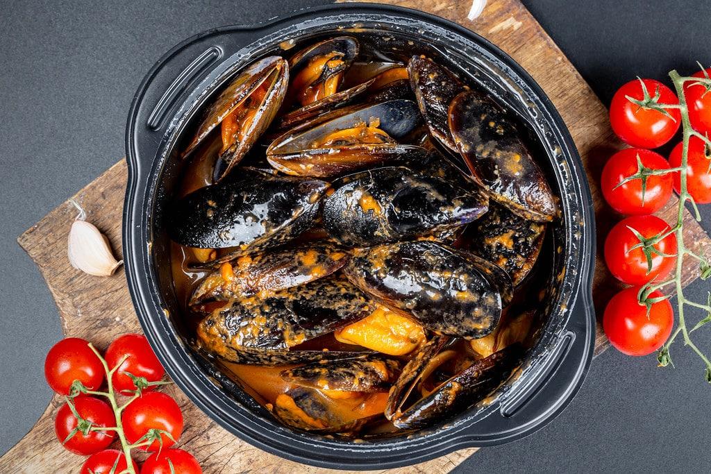 Alex Marrero Miami mussels in tomato broth